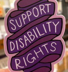 Jean Elise Designs Purple Disability Rights Sticker