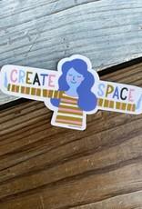 Free Period Press Create Space Stretch Vinyl Sticker