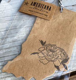 Blackbird Letterpress Indiana Gift Tag