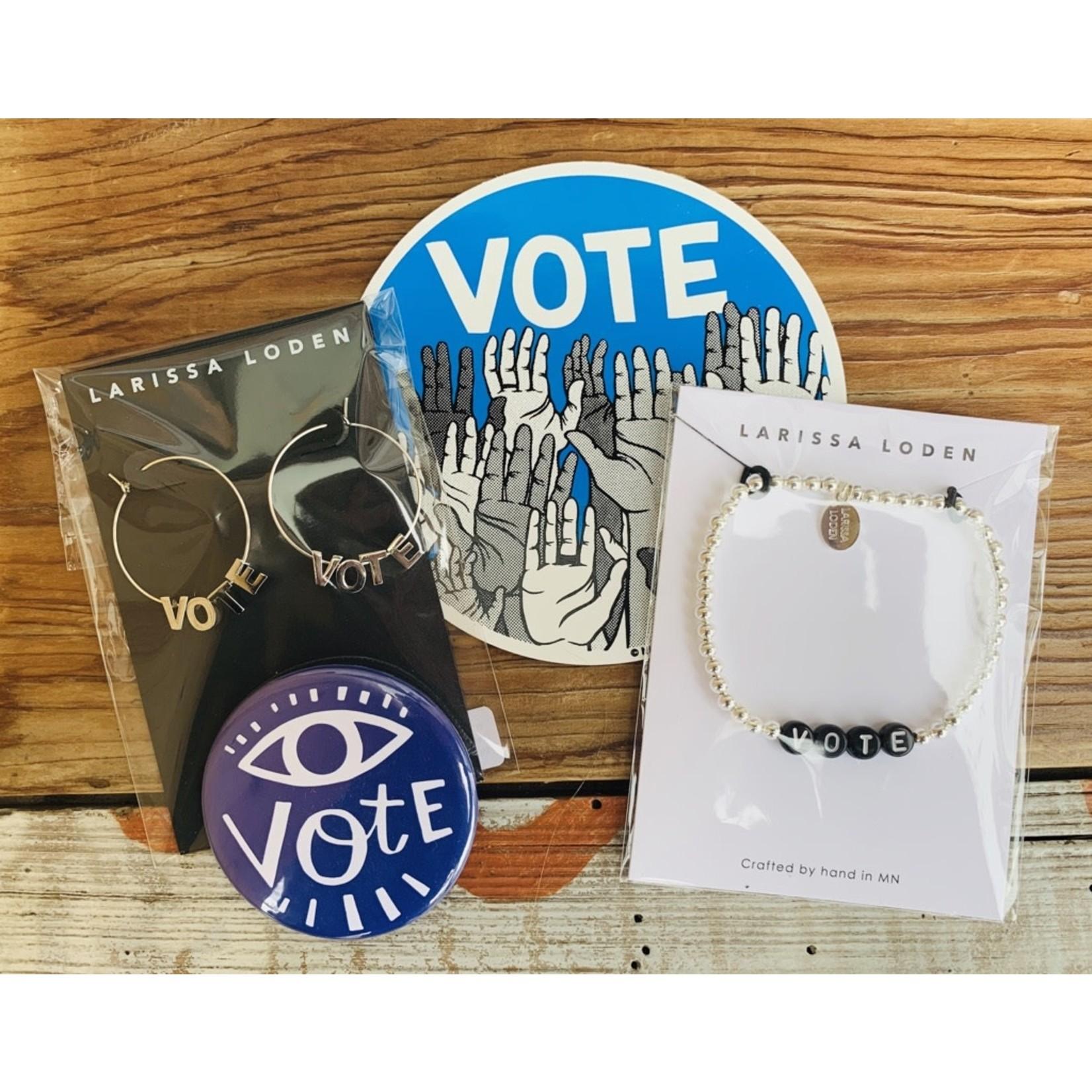 Larissa Loden VOTE Black Sterling Silver Bracelet