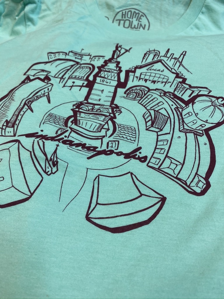 Terz Ink Mint Monument Circle Tee