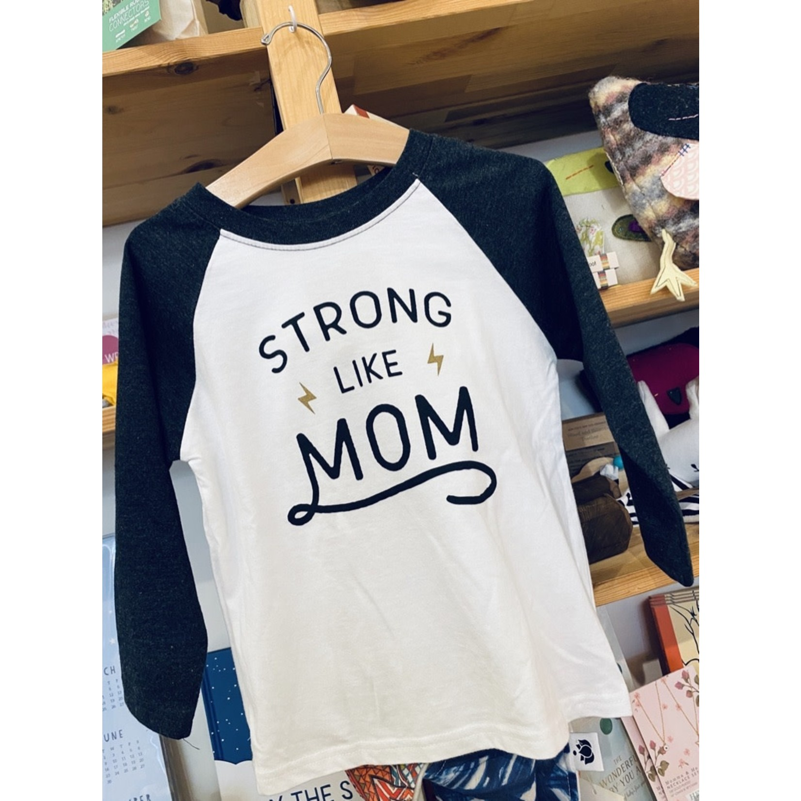 Sweetpea & Co. Strong Like Mom Raglan Tee
