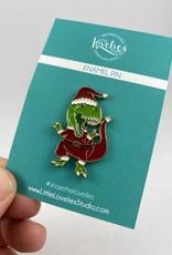 Little Lovelies Studio (BO) Santa Claws T-Rex Enamel Pin