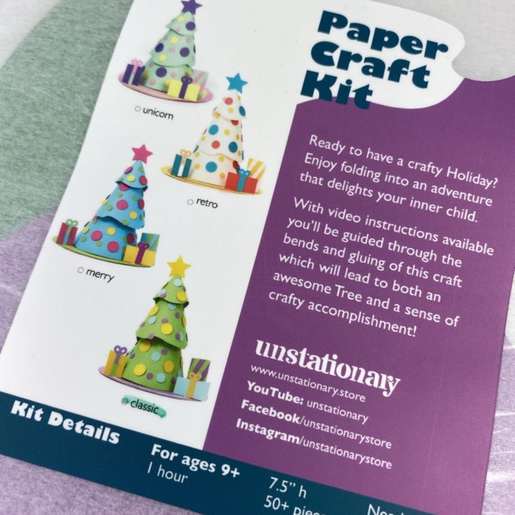 Unstationary Classic: Christmas Tree Paper Craft Kit