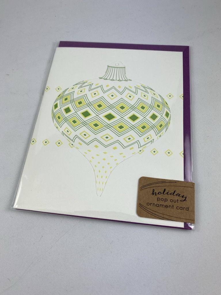 Blackbird Letterpress Geometric Pattern Pop-Out Ornament Greeting Card