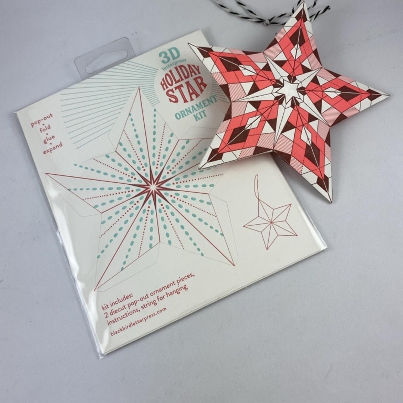 Blackbird Letterpress Dotted Star DIY Ornament Kit