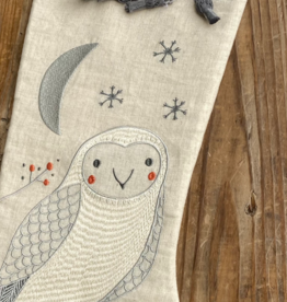 Gingiber Merriment Owl Stocking
