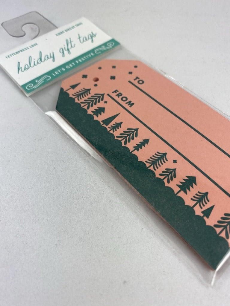 Igloo Letterpress Forest Gift Tag Set Of 8