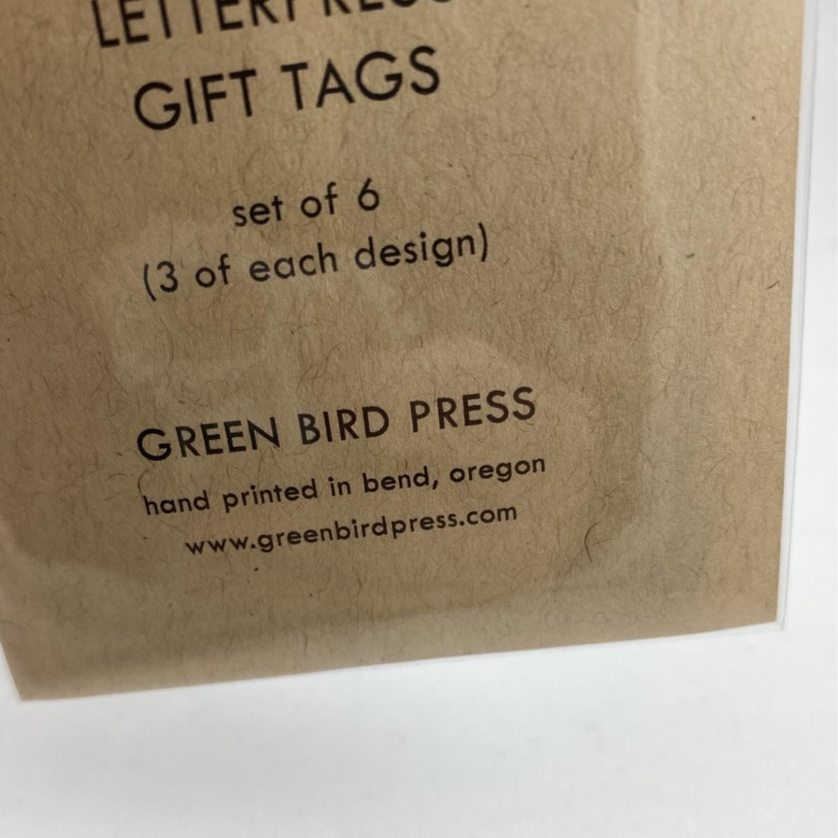 Green Bird Press No Peeking/Open Me Gift Tag Set Of 6