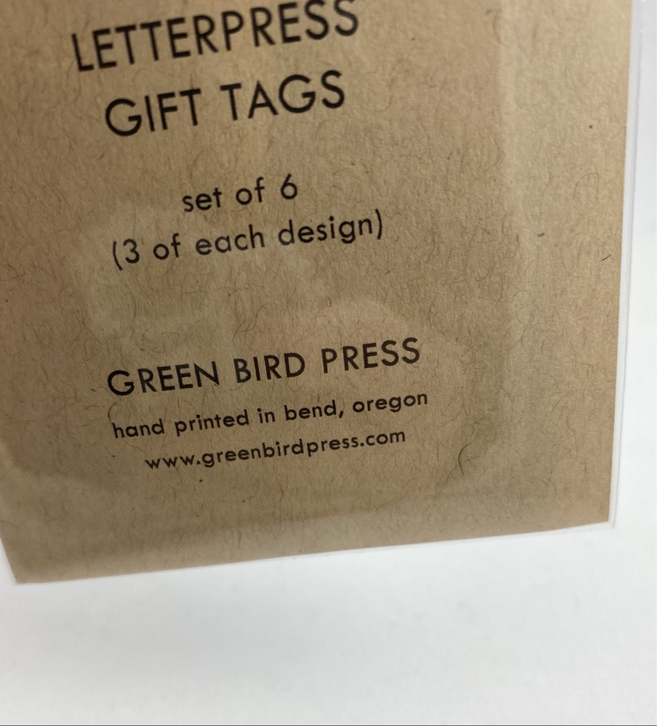 Green Bird Press No Peeking/Open Me Gift Tag Set Of 6