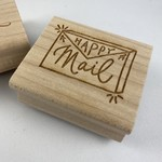 """Paper Sushi """"Happy Mail"""" Rubber Stamp"""
