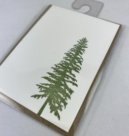 Green Bird Press Conifer Gift Enclosure Card