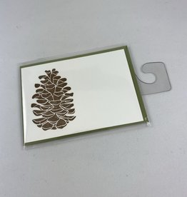Green Bird Press Pine Cone Gift Enclosure Card