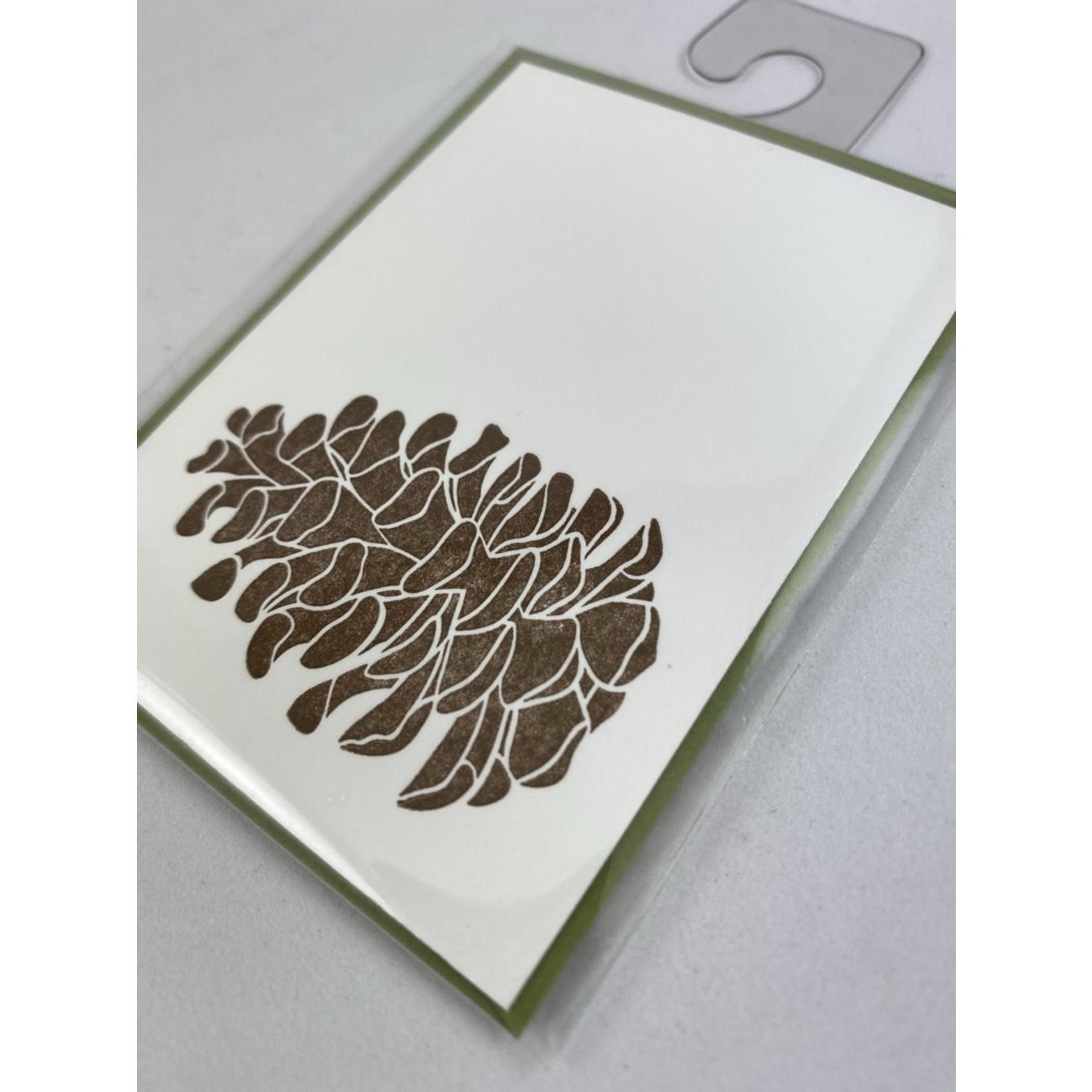 Green Bird Press Pine Cone Gift Enclosure Card
