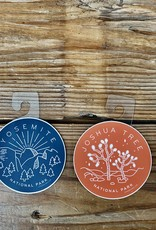 Tiny Bee Cards Yosemite National Park Circle Sticker