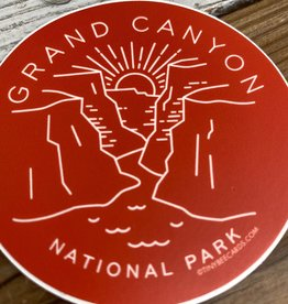 Tiny Bee Cards Grand Canyon National Park Circle Sticker