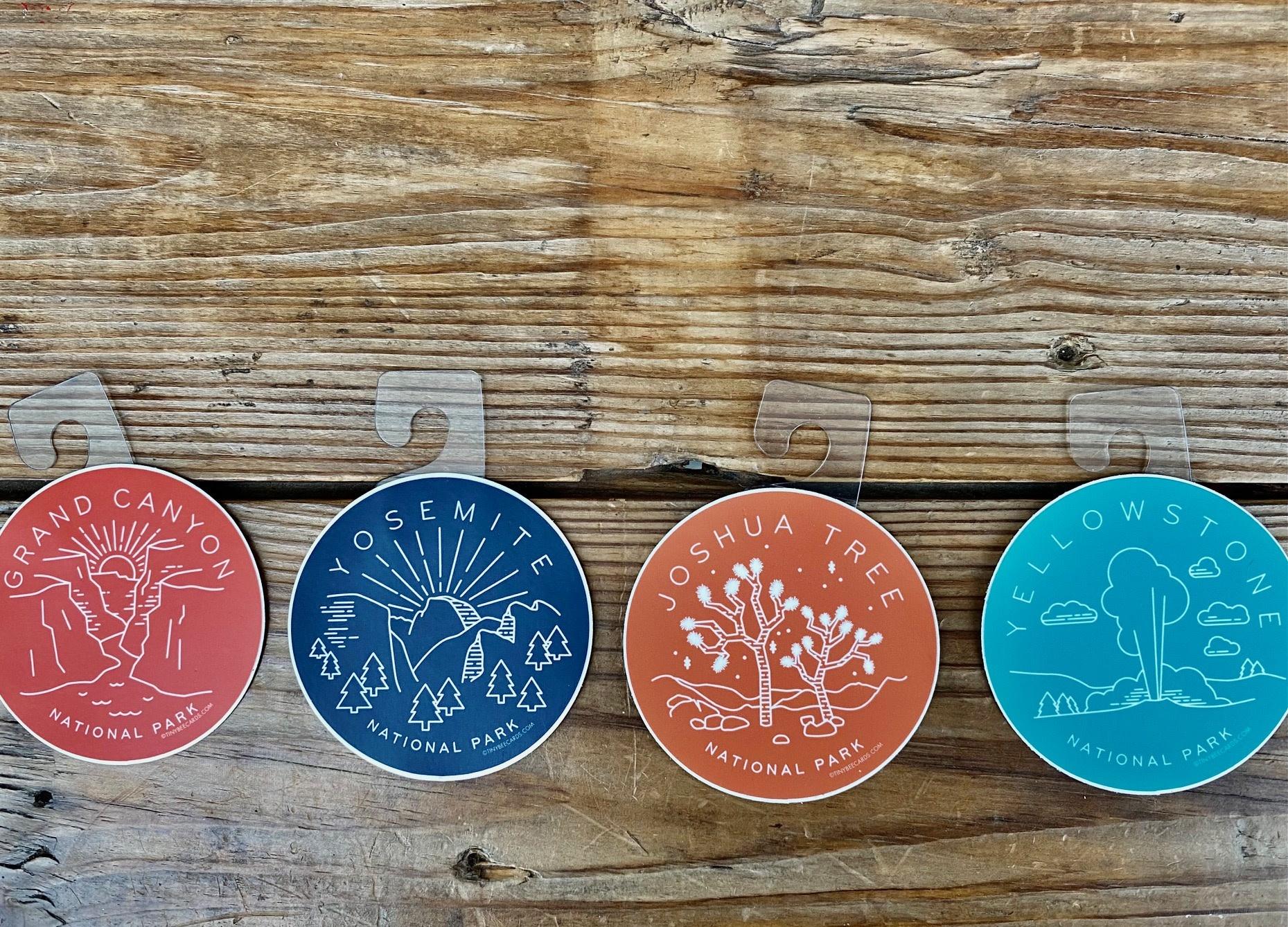 Tiny Bee Cards Joshua Tree National Park Circle Sticker