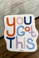 Free Period Press You Got This Words Sticker