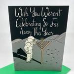 Greetings From Bergen Place Astronaut Hanukkah Far Away Greeting Card