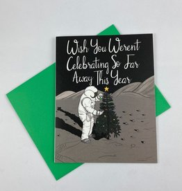 Greetings From Bergen Place Astronaut Christmas Far Away Greeting Card