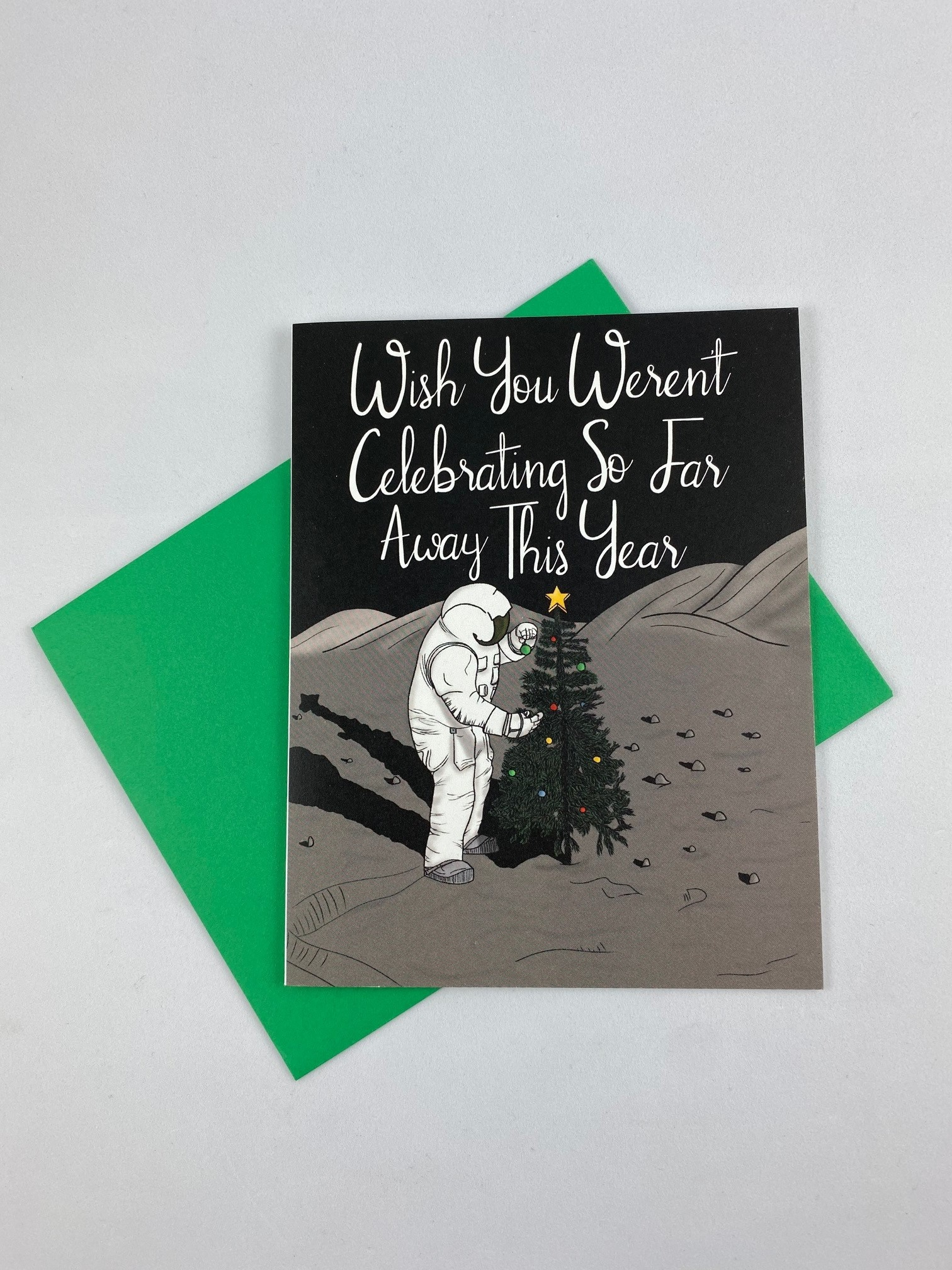 Greetings From Bergen Place / Jane's Tiny Things Astronaut Christmas Far Away Greeting Card