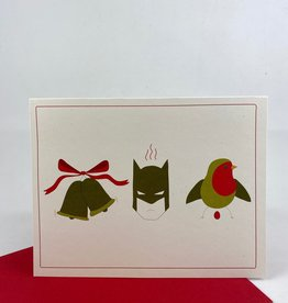 Little Lovelies Studio (BO) Jingle Bells Batman Smells Greeting Card
