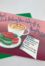 Greetings From Bergen Place / Jane's Tiny Things Santa Bribe Christmas Greeting Card