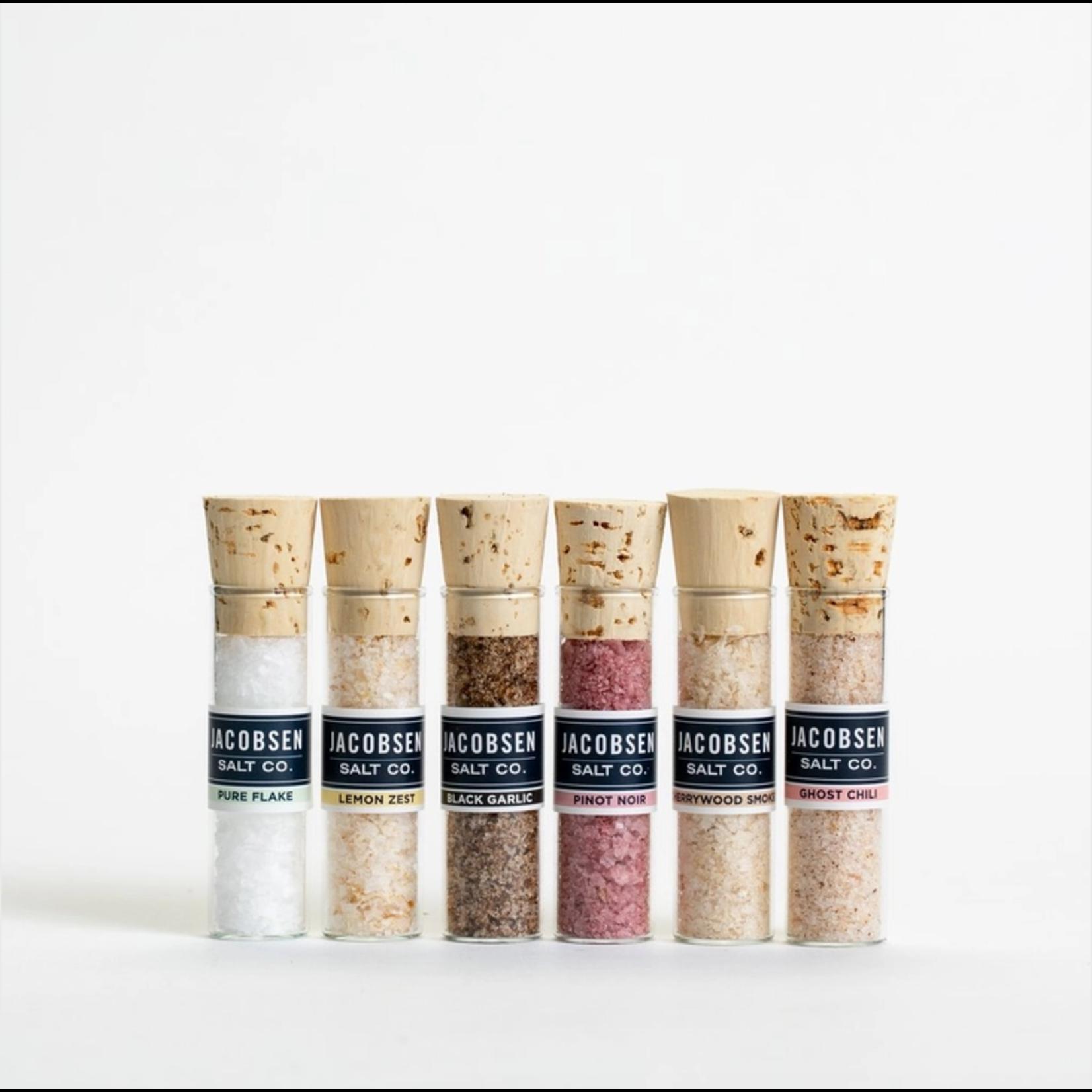 Jacobsen Salt Co. 6 Vial: Infused Salt Salts w/ Wooden Stand