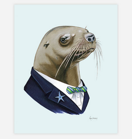 Berkley Illustration / Ryan Berkley Sea Lion Gentleman 5x7 Art Print
