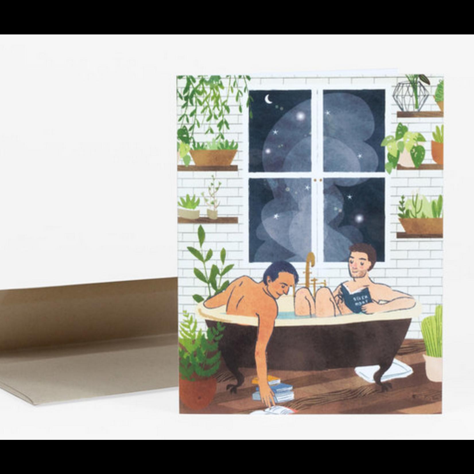 Christa Pierce Night Bath (Men) Greeting Card