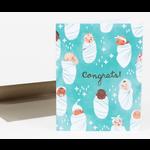 Christa Pierce Congrats Babies Greeting Card