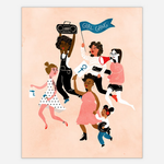 Christa Pierce Girl Gang Art Print