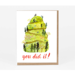 Little Truths Studio You Did It Green Mountain Greeting Card