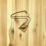 La Tiendita Upcycled Leather Triangle Necklace