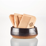 Raw Wood Beard Comb