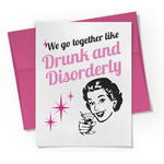Beckamade Drunk and Disorderly Greeting Card