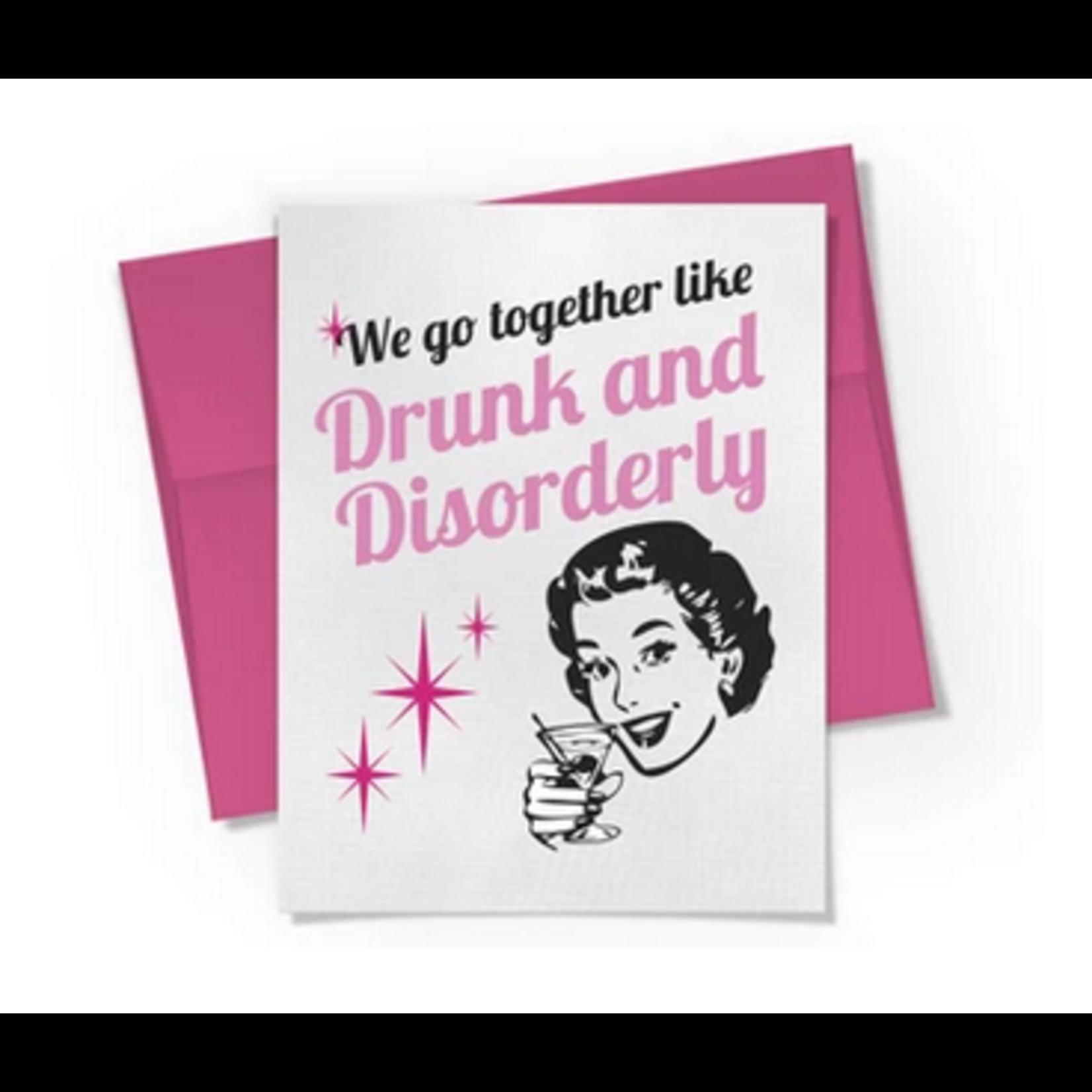 Beckamade Drunk and Disorderly Greeting Card