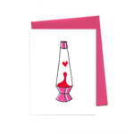 An Open Sketchbook Lava Lamp Love Greeting Card