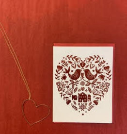 Big Wheel Press Hygge Valentine Foil Greeting Card