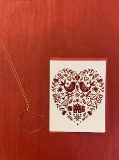 Big Wheel Press Hygge Valentine Foil Greeting Card