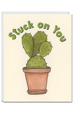 Cat People Press Stuck On You Cactus Greeting Card