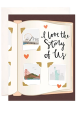 Bloomwolf Studio Love The Story Of Us Greeting Card