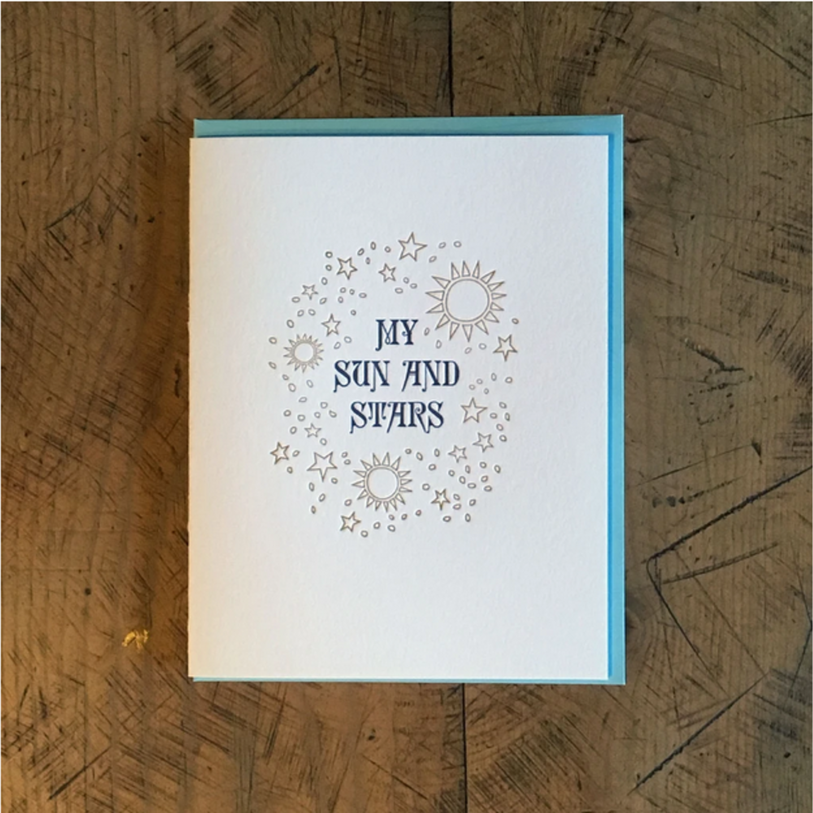 Green Bird Press Game Of Thrones: Sun + Stars Letterpress Greeting Card