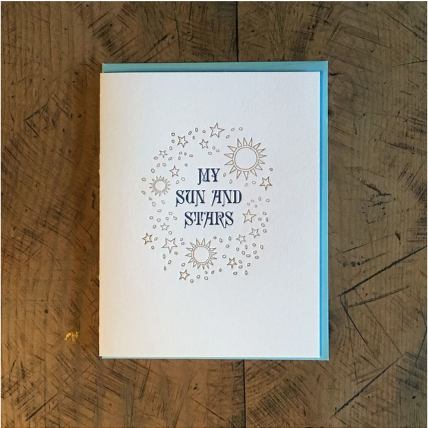 Green Bird Press Game Of Thrones: Sun + Stars Letterpress Greeting Card