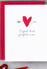 Design With Heart Cupid Had Perfect Aim Greeting Card