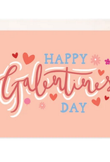 Bloomwolf Studio Happy Galentines Day Hearts + Floral Greeting Card