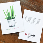 Artery Ink Aloe Always Love You Valentine Greeting Card