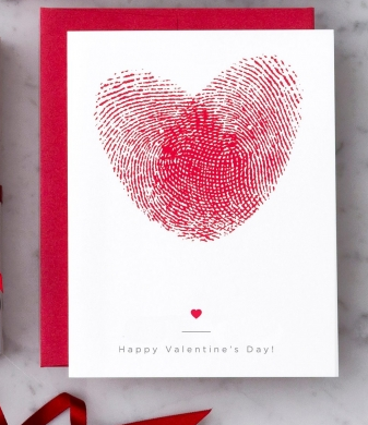 Design With Heart Heart Thumbprints Valentine Greeting Card