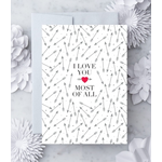 Design With Heart (QO) Arrows Love You Most of All Greeting Card