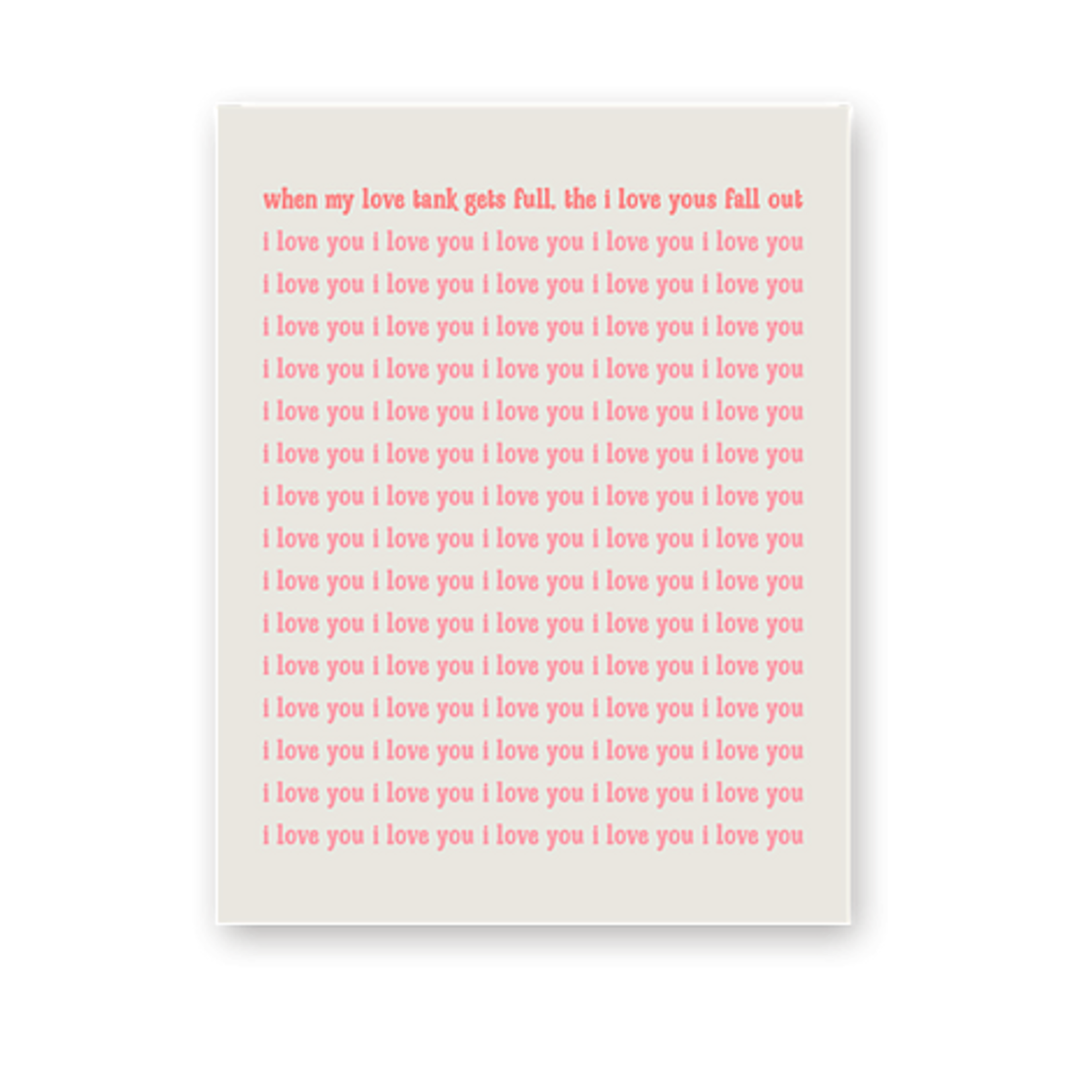 Haven Paperie Love Tank Gets Full Greeting Card